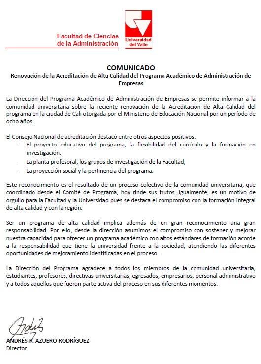 Egresados :: Facultad de Ciencias de la Administración